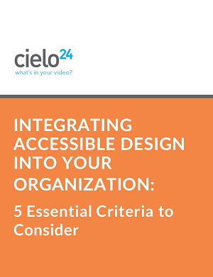 Integrating Accessible Design Cover