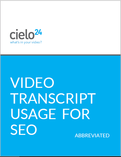 Video Transcript SEO Cover