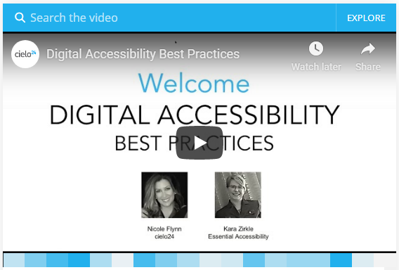 Webinar - Digital Accessibility Best Practices