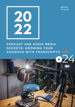 cielo24 eBook COVER - Podcast and Audio Media Secrets