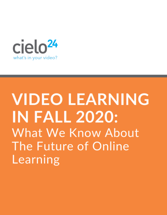 Video Learning in Fall 2020 eBook - cover - sm